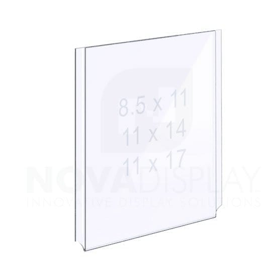 EASY ACCESS ACRYLIC POCKET – PORTRAIT. Insert Size: Letter/Legal