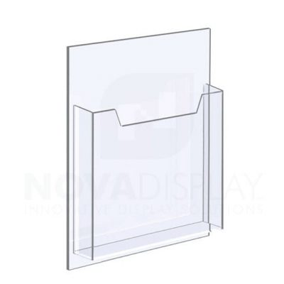 14ALD-8511P 1/8″ Clear Acrylic Leaflet Dispenser / Literature Holder – Single Pocket / Portrait