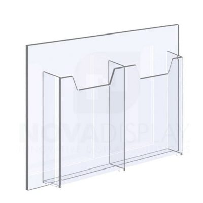 18ALD-2-3585P-12 1/8″ Clear Acrylic Leaflet Dispenser /