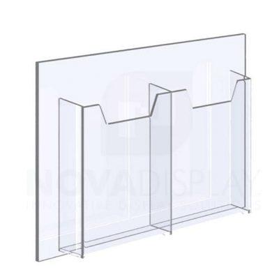 18ALD-2-3585P-12 1/8″ Clear Acrylic Leaflet Dispenser /
