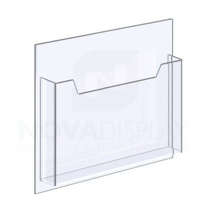 18ALD-8511L-12>13 1/8″ Clear Acrylic Leaflet Dispenser / Literature Holder – Single Pocket / Landscape