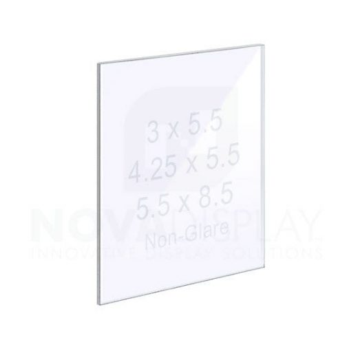 18ASP-PANEL-NG-SM 1/8″ Non-glare acrylic graphic panel with polished edges – no holes. *Always use with a matching back piece of 1/8″ clear acrylic.