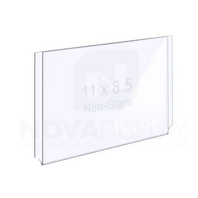 18EAAP-8511L-NG Non-Glare (Anti-Reflective) Easy Access Acrylic Pocket / Poster Holder – Landscape