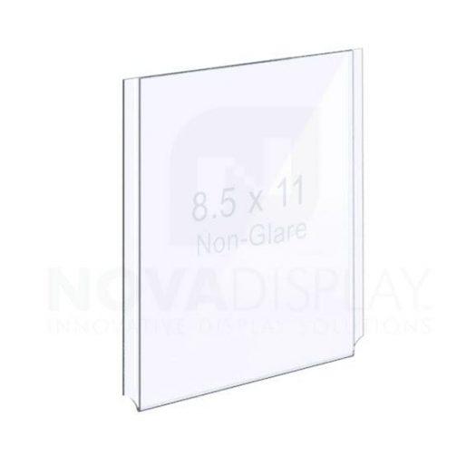 18EAAP-8511P-NG Non-Glare (Anti-Reflective) Easy Access Acrylic Pocket / Poster Holder – Portrait