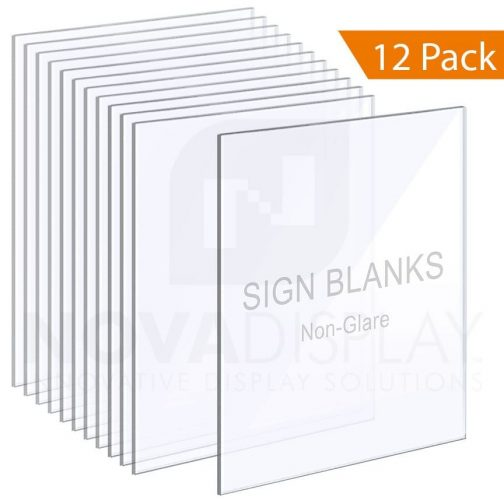 1/8″ Non-Glare Acrylic Sign Blanks without Holes – Polished Edges