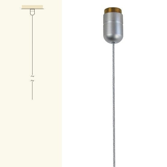 "2.0M (6' 5-3/4"") LONG 1.5mm (1/16"") DIA. CABLE w/CEILING FIXING (Use with Interchangeable Base Supports)"