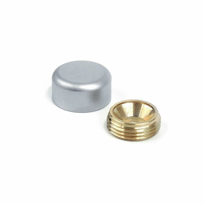 "5/8"" DIA. SIGN SCREW CAP w/ROUND EDGE – BRASS w/SATIN CHROME"
